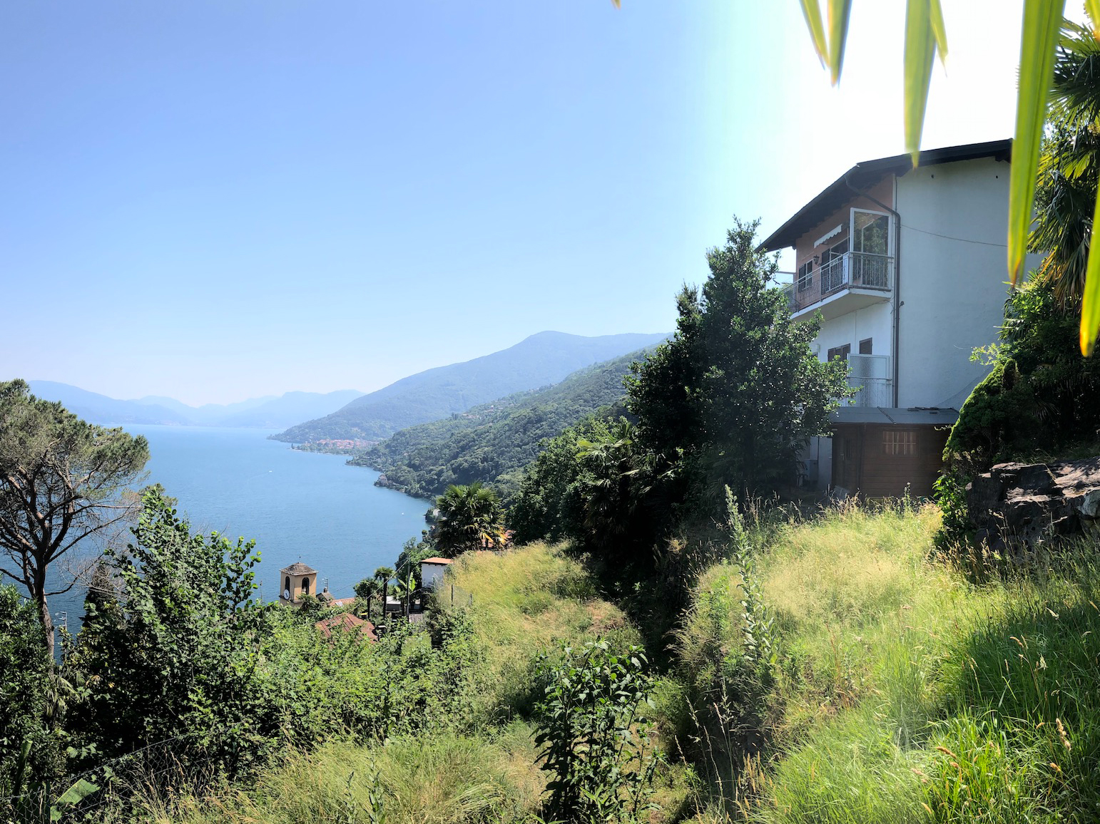 Cannobio - San Bartolomeo - romantic house with two apartments, Garten - lakeview