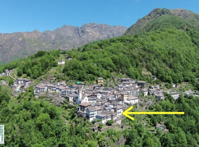 Cavaglio Spoccia - centerof the village with view toward the valley